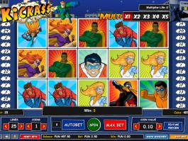 obrázek ze hry automat KickAss online zdarma