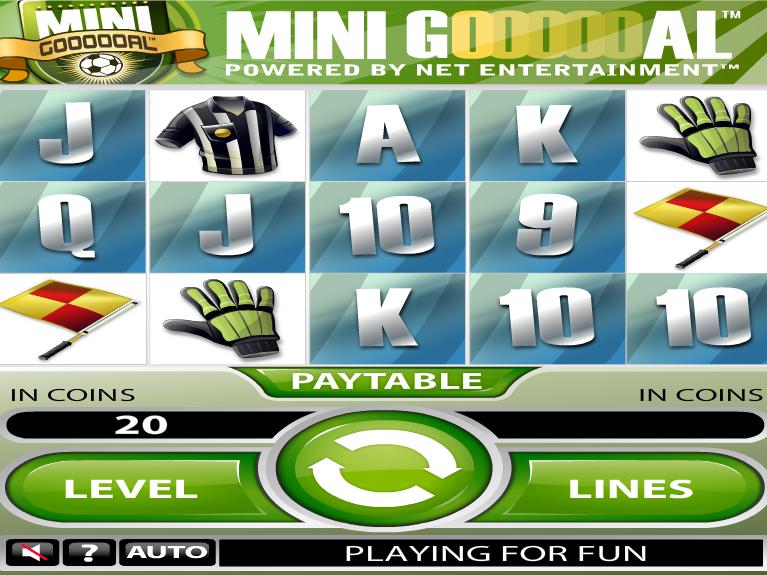 obrázek ze hry automatu Mini Goooal online zdarma
