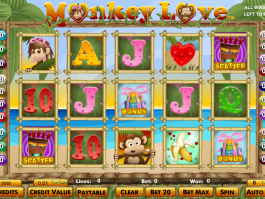 obrázek ze hry automatu monkey love online zdarma