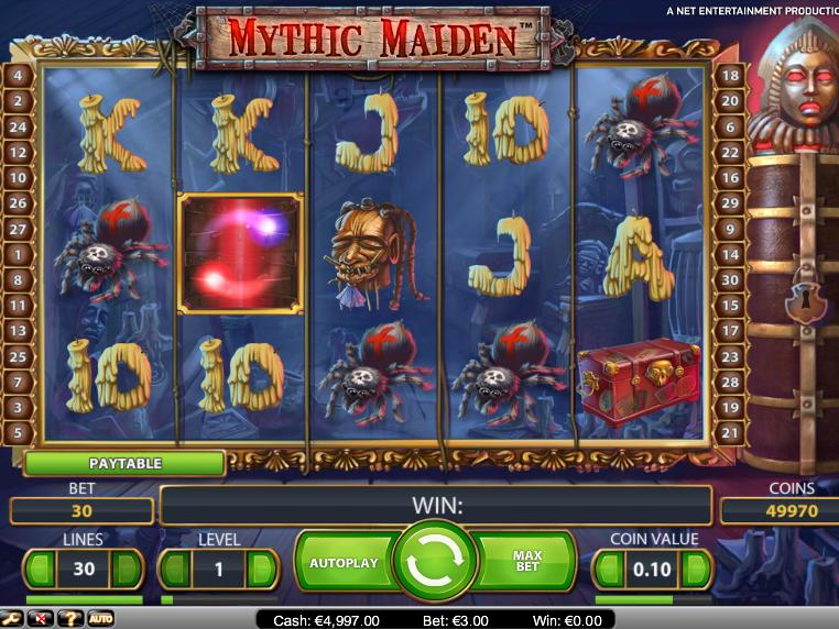 Zábavný casino automat Mythic Maiden zdarma