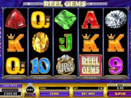 výstřižek ze hry automatu Reel Gems online zdarma