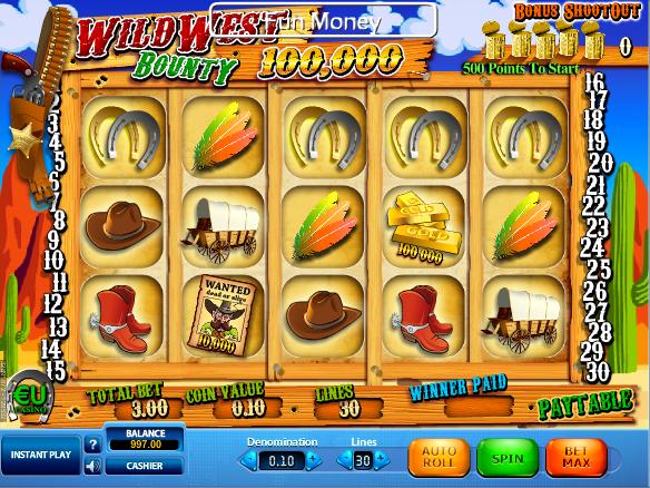 obrázek automatu wild west online zdarma