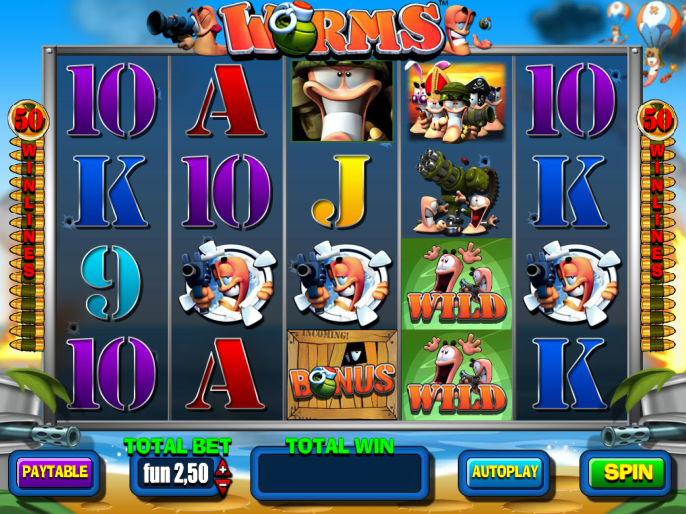 výstřižek ze hry Worms online zdarma