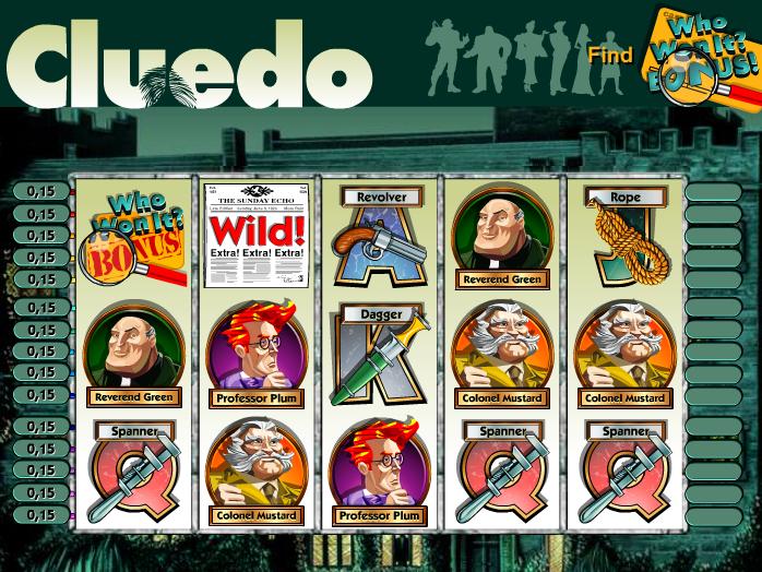 obrázek z automatové hry Cluedo online zdarma