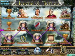 obrázek ze hry automatu Legend of Terra zdarma online