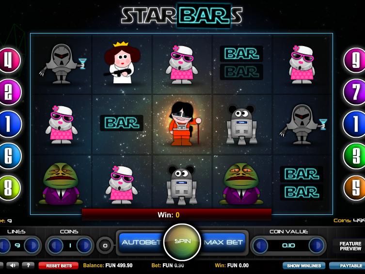 obrázek ze hry: automat Star Bars online zdarma