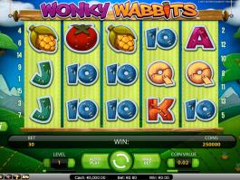 obrázek ze hry automatu Wondy Wabbits online zdarma