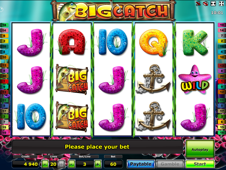 Automat Big Catch online zdarma