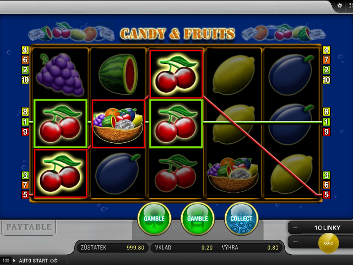 online automat zdarma Candy & Fruits