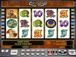 Výherní automat Columbus zdarma online