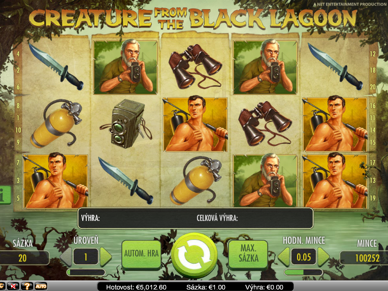 Online automat zdarma Creature from the Black Lagoon