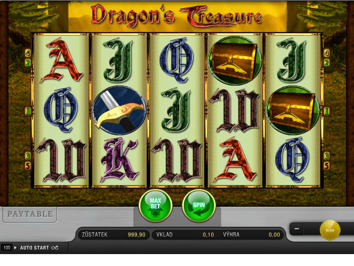 Dragon´s Treasure online automat zdarma