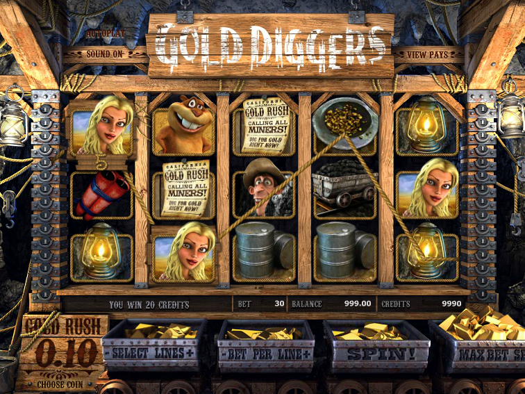 automat Gold Diggers online zdarma