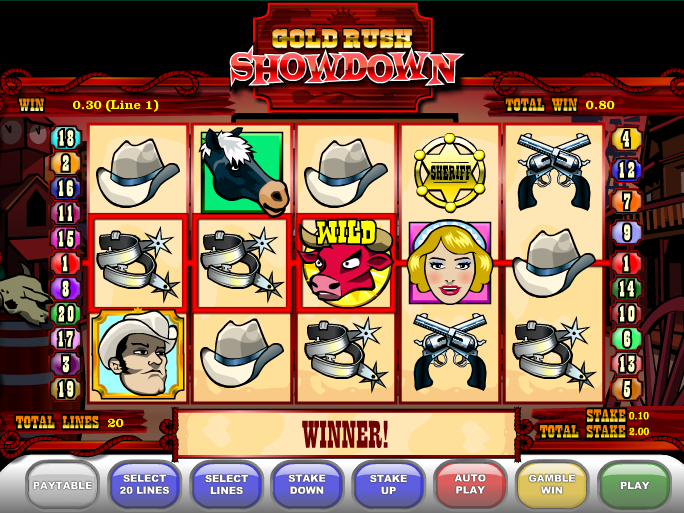 Gold Rush Showdown online automat zdarma