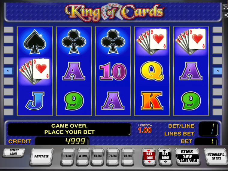 Online automat zdarma King of Cards