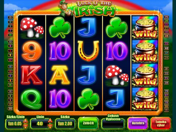 automat Luck O´the Irish online zdarma