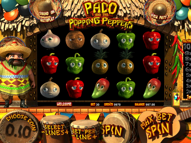 Paco and the Popping Peppers online automat zdarma