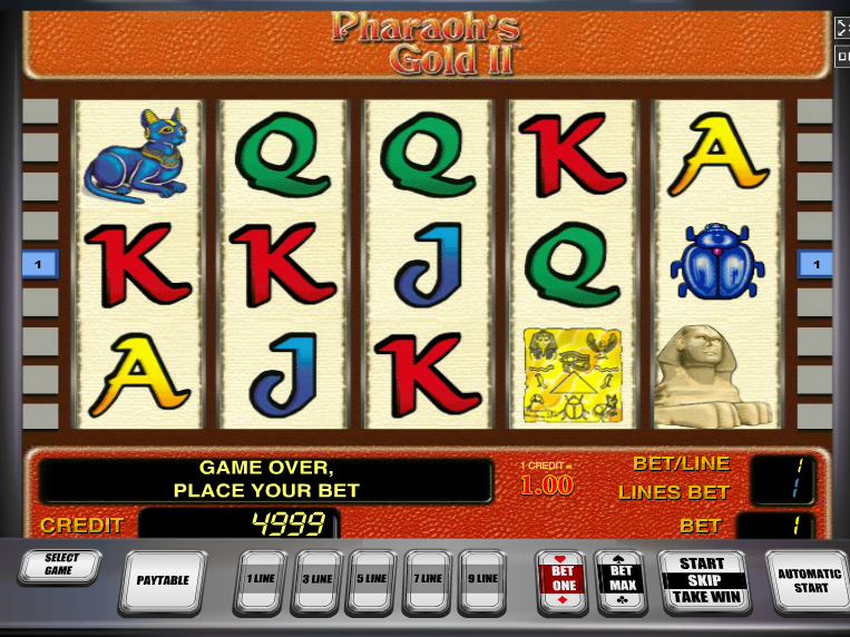 Pharaoh´s Gold II online automat zdarma