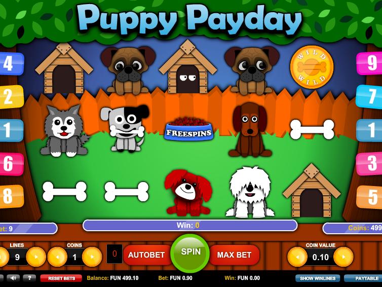 Automat online zdarma Puppy Payday