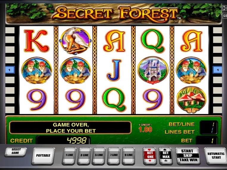 Secret Forest online automat zdarma