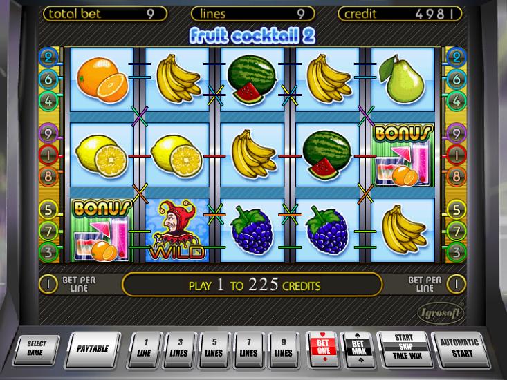 Casino automat Fruit Cocktail 2 zdarma online