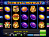 Zdarma automat Fruits´n Royals online