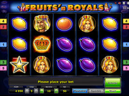 Zdarma automat Fruits´n Royals online