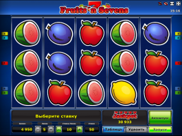 Online automat Fruits´n Sevens zdarma