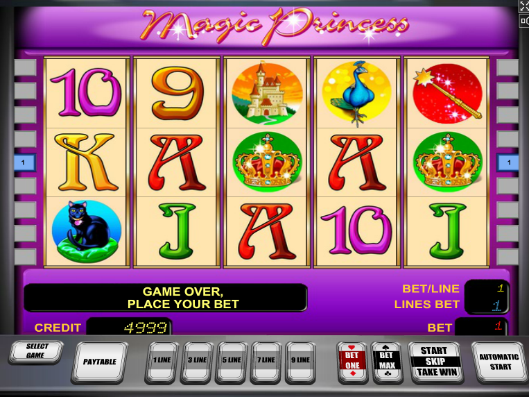 Online automat zdarma Magic Princess