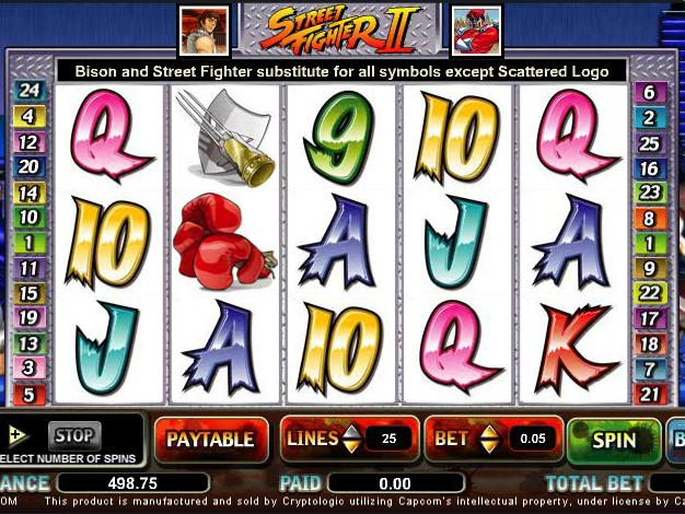 automat zdarma Street Fighter II online