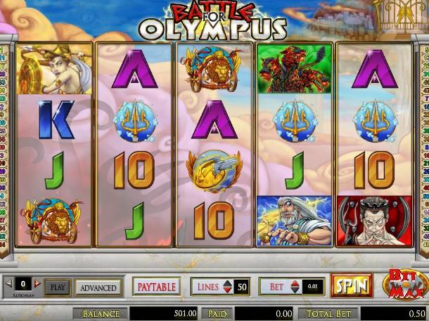 Battle for Olympus online automat zdarma