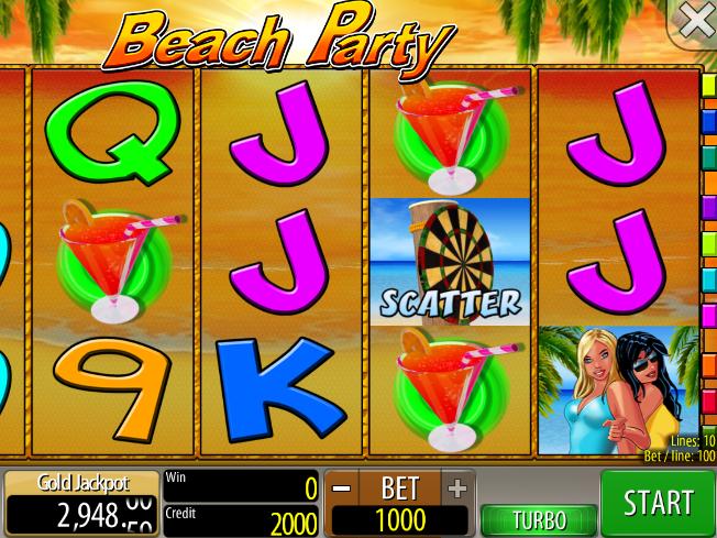 Beach Party automat zdarma online