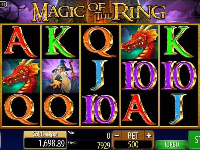 Casino automat Magic of the Ring od vývojářské společnosti Wazdan