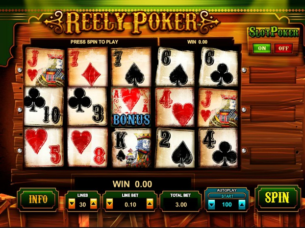 online automat zdarma Reely Poker