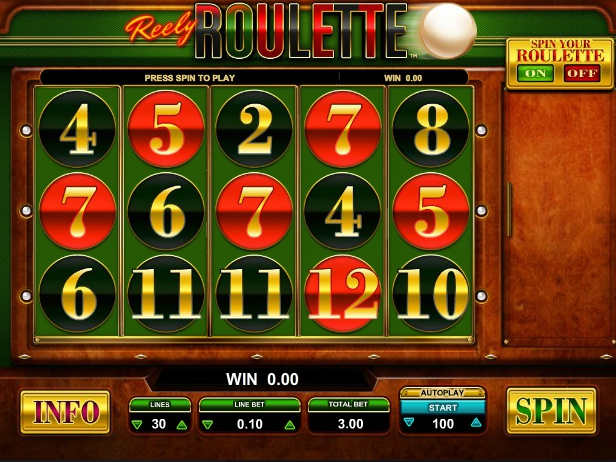 online automat Reely Roulette zdarma