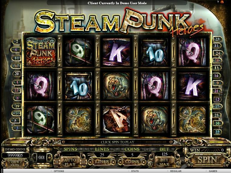 Steam Punk Heroes zdarma online automat