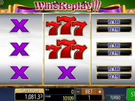 Win & Replay!!! online automat zdarma