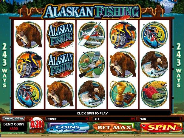 hrací online automat Alaskan Fishing zdarma