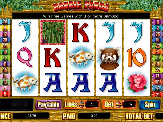 online casino automat Double Panda zdarma
