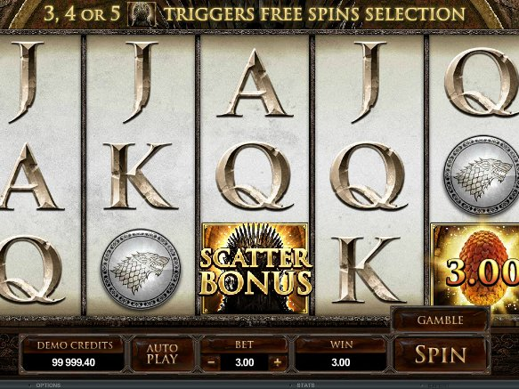 automat Game of Thrones online zdarma