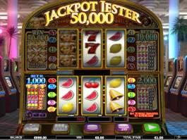 Obrázek z online herního automatu Jackpot Jester 50,000