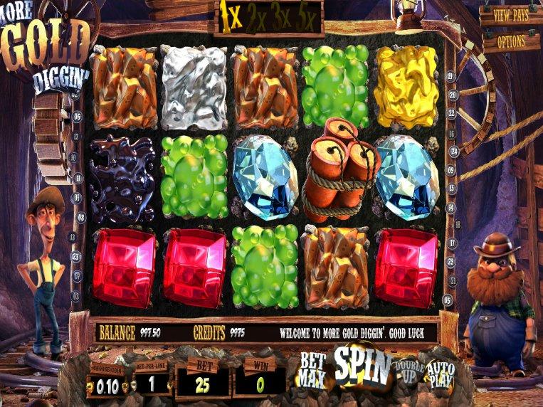 Online casino automat More Gold Diggin´ zdarma