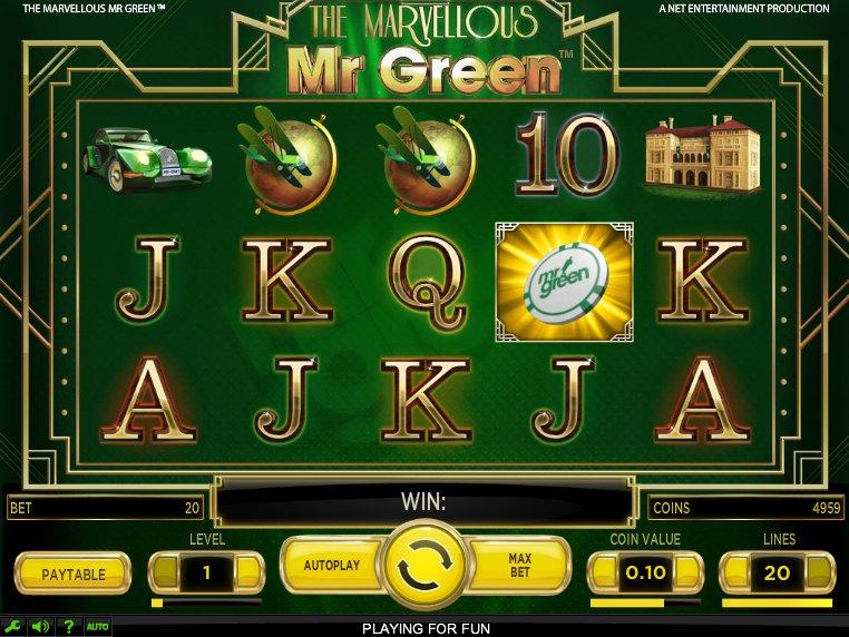 Online automat zdarma The Marvellous Mr. Green