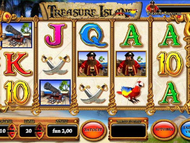 Treasure Island online automat zdarma