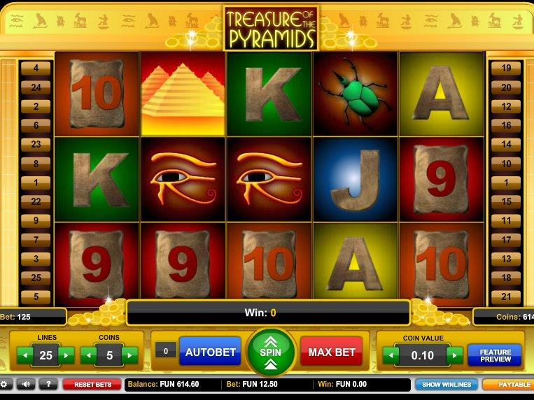 online hrací automat Treasure of the Pyramids zdarma
