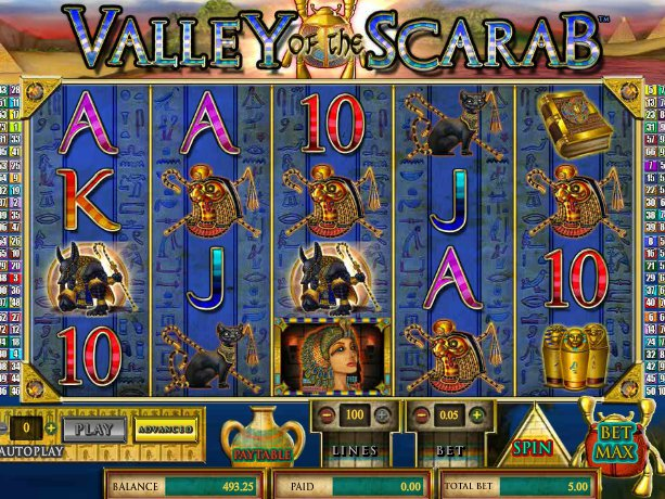 canino automat Valley of the Scarab online zdarma