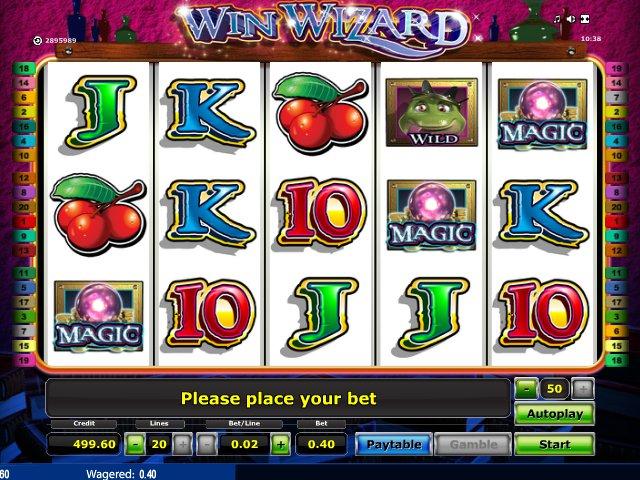online hrací automat Win Wizard zdarma