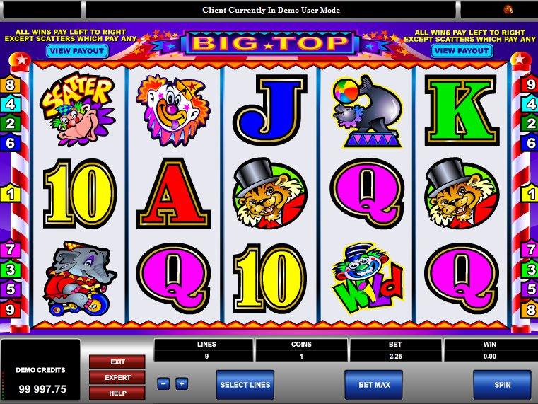 výherní automat Big Top online zdarma
