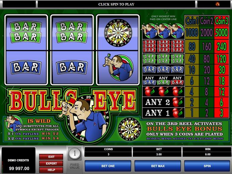 hrací online automat Bulls Eye