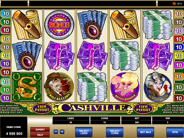 Cashville online casino automat zdarma